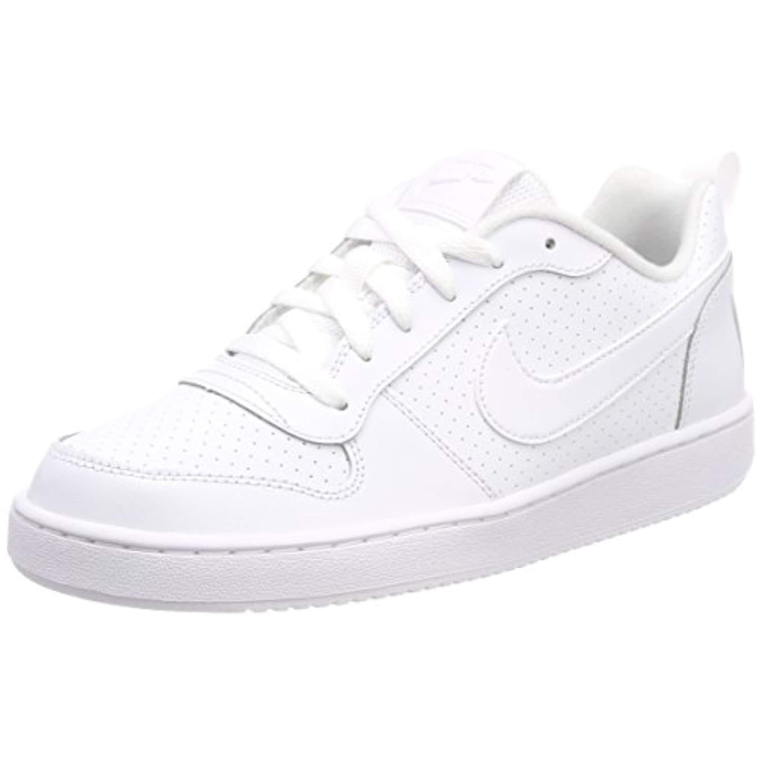 Nike Youths Court Borough Low White Leather Trainers 40 EU