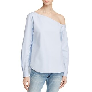 Theory Womens Ulrika Blouse Asymmetric Off The Shoulder