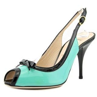 Festa Milano Amber   Peep-Toe Patent Leather  Slingback Heel