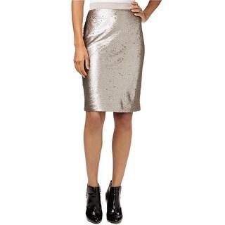 Maison Jules Sequin Pencil Skirt - 4