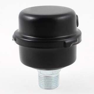 "Unique Bargains Black Air Compressor Admitting Port Metal Muffler 0.8"" Thread Diameter"