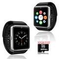 Indigi® GT8 Bluetooth SmartWatch and Phone w/ Pedometer + Sleep Monitor + Camera + Sedentary Reminder w/ 32gb microSD - Silver - Thumbnail 0