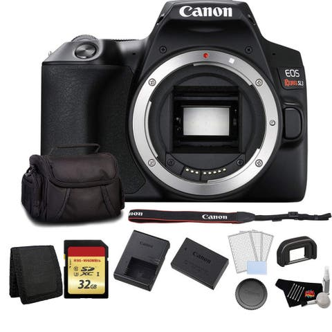 Canon EOS Rebel SL3 DSLR Camera (Black, Body Only) Bundle with 32GB