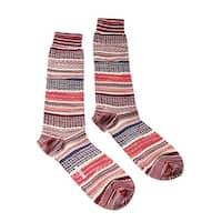 Missoni GM00CMU5439 0003 Red/Orange Mixed Stripe Boot Socks - M