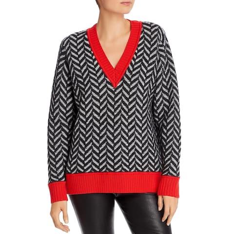 Rag & Bone Womens Pullover Sweater Wool Blend Wool - Black