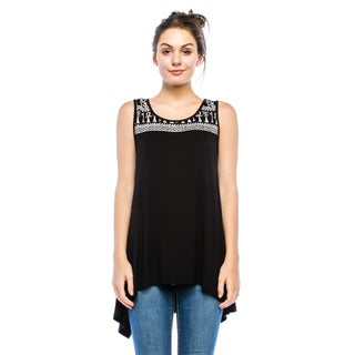 Simply Ravishing Women's Hi-Low Sleeveless Ethnic Print Tunic Top (Size: Small-3X) (More options available)