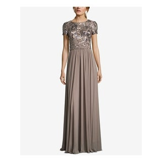 Link to BETSY & ADAM Brown Short Sleeve Full Length Dress  Size 6 Similar Items in Petites