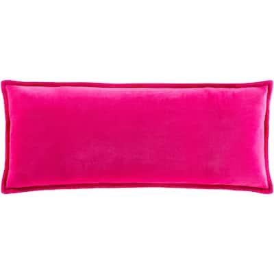 """Vianne Solid Cotton Velvet 12""""x30"""" Lumbar Throw Pillow"""