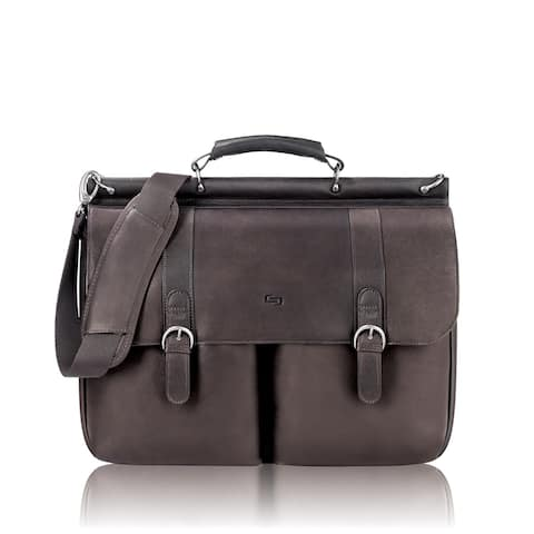 Solo Executive Leather Briefcase, Espresso Executive Leather Briefcase, Espresso