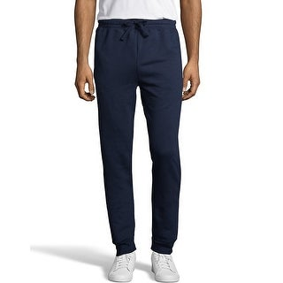 Hanes Men's EcoSmart Fleece Jogger Sweatpant with Pockets - Color - Navy - Size - M