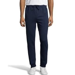 Hanes Men's EcoSmart Fleece Jogger Sweatpant with Pockets - Color - Navy - Size - XL