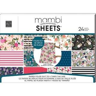 MAMBI Sheets Paper Pad 18.3x25.8 Botanical