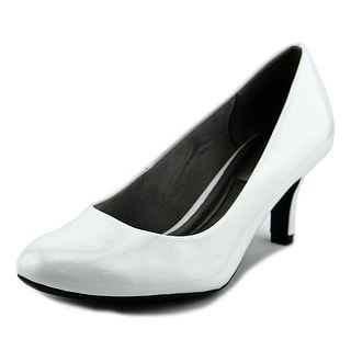 Life Stride Parigi Women W Round Toe Synthetic White Heels