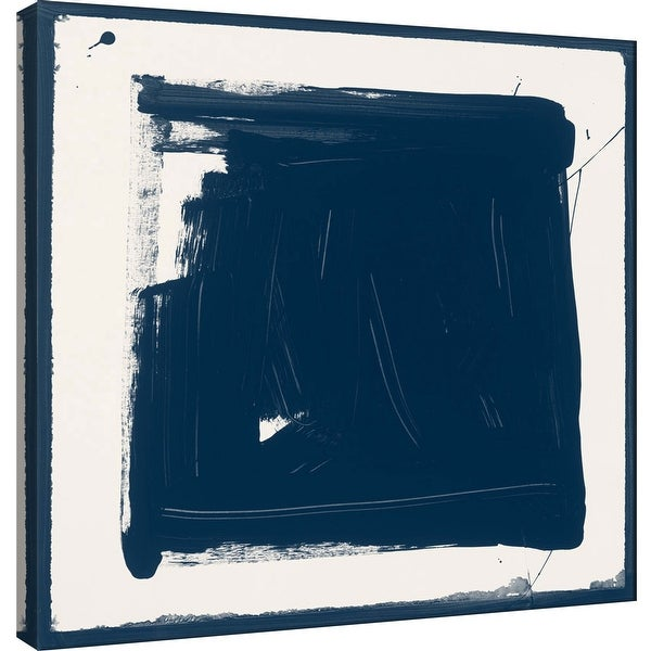 "PTM Images 9-100920 PTM Canvas Collection 12"" x 12"" - ""Indigo N"" Giclee Abstract Art Print on Canvas"