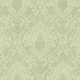 Brewster MEA79073 Essex Green Lacey Damask Wallpaper