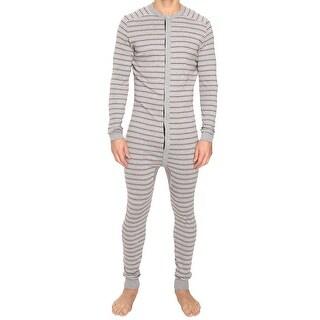 2(X)IST NEW Gray Red White Mens Size XL Striped One-Piece Sleepwear