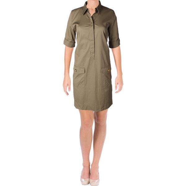 26826604cd3 Shop Lauren Ralph Lauren Womens Elsie Shirtdress Twill Casual - Free  Shipping On Orders Over  45 - Overstock - 21020494