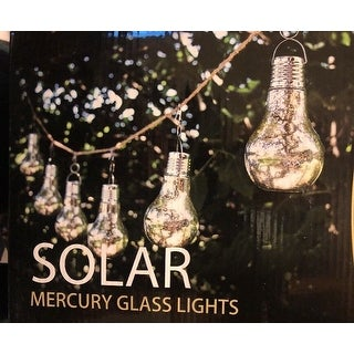 Members Mark Solar Mercury Glass Lights 6 Pack with 12 Feet of Rope