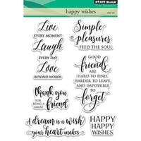"Penny Black Clear Stamps 5""X7""-Happy Wishes"