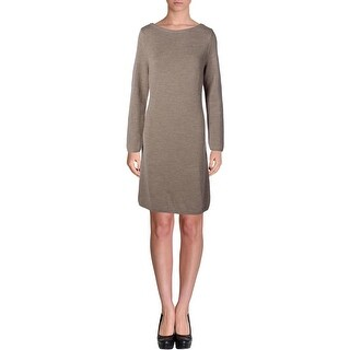 Lauren Ralph Lauren Womens Wool Boatneck Sweaterdress