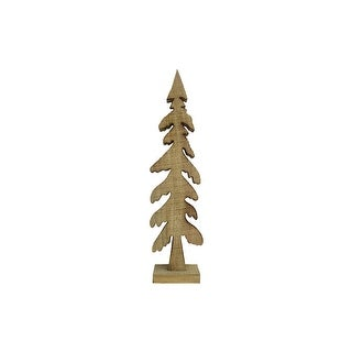 "SPC Wood Tree Figurine Evergreen 19"" Stained"
