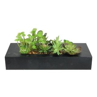 "14"" Artificial Succulent Plant Arrangement in Garden Box - N/A"