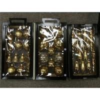 36 - Piece Collection Asymmetrical Christmas Ornament Set, Gold