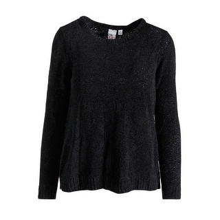 Oh MG! Womens Juniors Pullover Sweater Chenille Long Sleeves