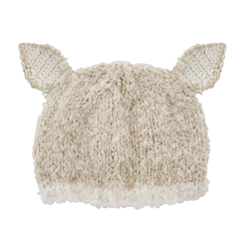 Off White Lamb Knit Cap - 6-12 months - One Size