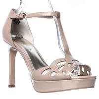 Anne Klein Womens Sultry Leather Open Toe Casual Ankle Strap Sandals - 9