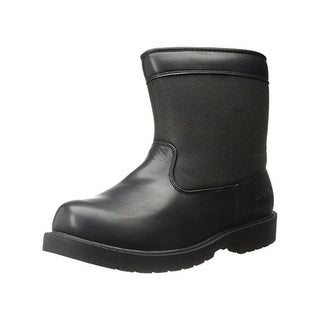Totes Mens Jason Snow Boots Faux Leather Waterproof