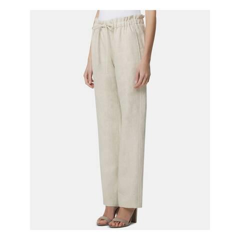 TAHARI Womens Beige Straight leg Wear To Work Pants Size 14