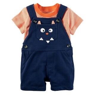 Carter's Baby Boys' 2-Piece Tee & Shortalls Set, 9 Months