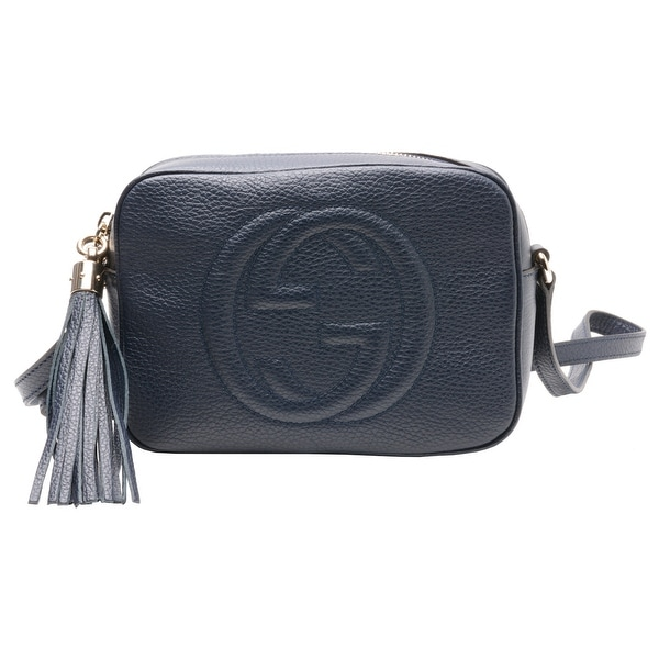Gucci Soho Leather Disco Bag Navy
