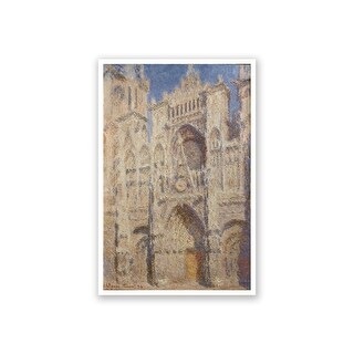 Rouen Cathedral The Portal - Claude Monet Fine Art Collections Matte Poster 16x24