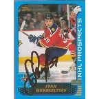 Ivan Novoseltsev Florida Panthers 2001 Topps Prospects Autographed Card signature slightly smudged