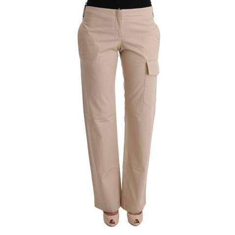 Ermanno Scervino Beige Cotton Wool Regular Fit Women's Pants - it40-s