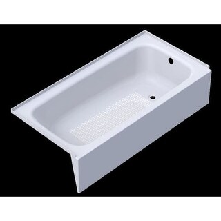 Kaldewei 155 Cayono 5 Foot Slip Resistant Steel Enamel Alcove Tub with Right Drain