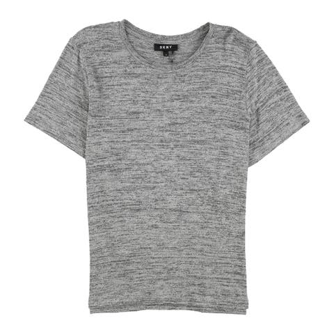 Dkny Womens Metallic Basic T-Shirt