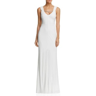Laundry by Shelli Segal Womens Evening Dress Embellilshed Front Slit - 8