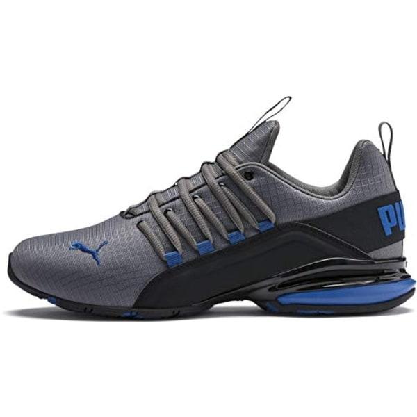 53d37ff728 PUMA Men's Axelion Sneaker, Castlerock Black-Galaxy Blue, 10 M US