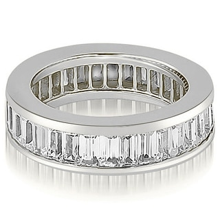 4.00 cttw. 14K White Gold Baguette Diamond Eternity Ring