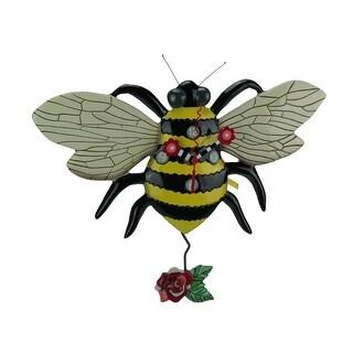 Allen Designs Buzz Bee Pendulum Wall Clock