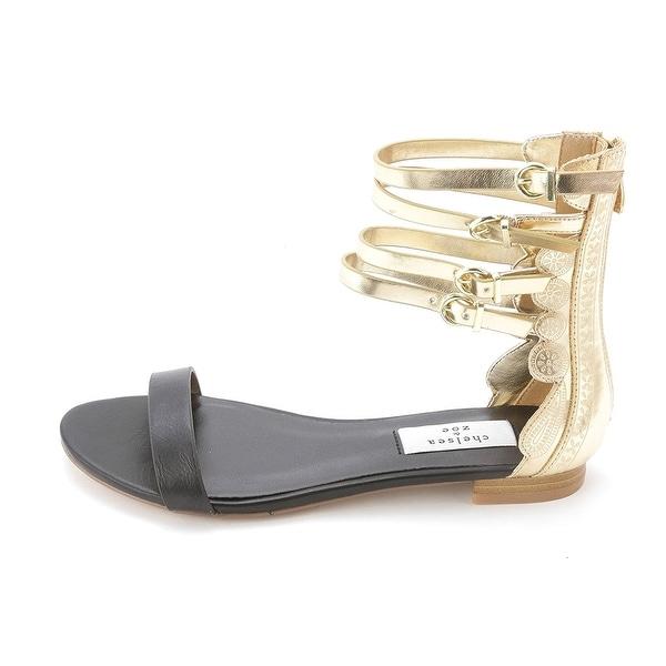 Chelsea & Zoe Womens CORTEZ Open Toe Casual Gladiator Sandals