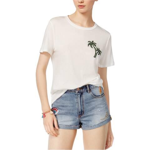 Carbon Copy Womens Palm Basic T-Shirt