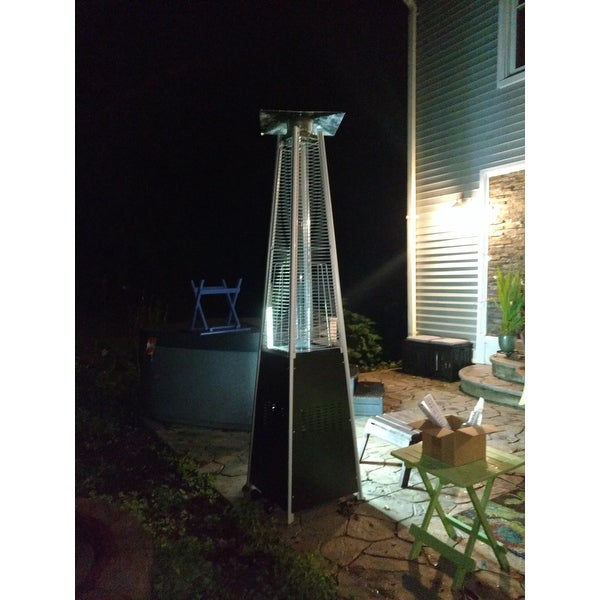 Shop Tall Hammered Bronze Quartz Glass Tube Patio Heater   On Sale   Free  Shipping Today   Overstock.com   20603111