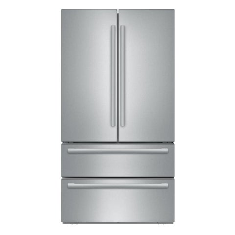 Bosch B21CL1SNS 800 Series 36 Inch Wide 21 Cu. Ft. French Door Refrigerator with Dual AirCool System - Stainless Steel