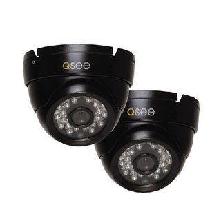 Q-See 2 Pack HD 720p Dome Security Cameras - Black