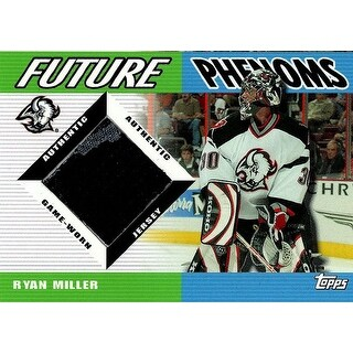 Signed Miller Ryan Buffalo Sabres Ryan Miller 200304 Topps Future Phenoms Unsigned Hockey Jersey In