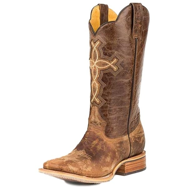 Tin Haul Western Boots Mens Ichthys Aroundus Brown